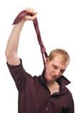 De beambte wordt omhoog gehangen Stock Fotografie
