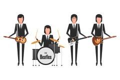 De Beatles musikbandämnena Royaltyfri Foto