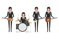 De Beatles musikbandämnena Arkivbild