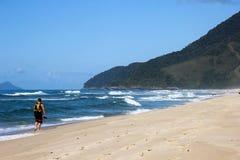 De beaux paysages peuvent être trouvés dans Grumari, Brésil photo stock
