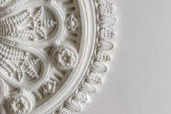 De bebouwde foto van een Victoriaans plafond nam toe Stock Fotografie