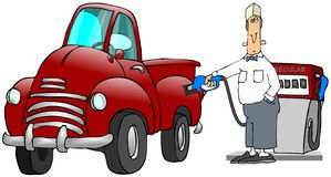 De Bediende van het benzinestation vector illustratie