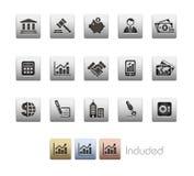 De bedrijfs & van Financiën MetaalReeks van // royalty-vrije illustratie
