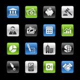De bedrijfs & van Financiën Reeks van // Gelbox stock illustratie
