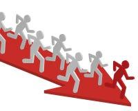 De bedrijfs concurrentie. Stock Fotografie