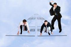 De bedrijfs concurrentie in het ontwerpen Royalty-vrije Stock Afbeeldingen