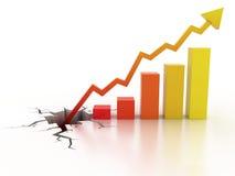 De bedrijfs financiële groei - het toenemen grafiek stock illustratie