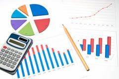 De bedrijfs grafiek analyseert Royalty-vrije Stock Fotografie