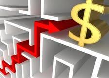 De bedrijfs Groei vector illustratie