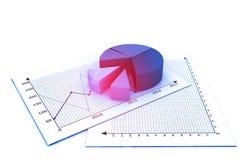 De bedrijfs groei chart Stock Foto