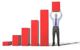 De bedrijfs groei chart Stock Foto's