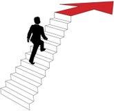 De bedrijfs mens beklimt op pijltreden vector illustratie