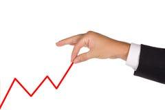 De bedrijfs mens verhoogt zijn zaken Stock Foto