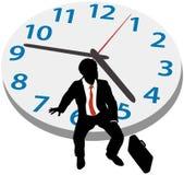 De bedrijfs mens wacht benoemingsprikklok vector illustratie
