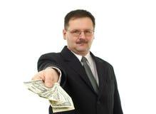 De bedrijfs mensen geven sommige nota's Stock Foto