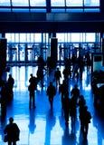 De bedrijfs mensen silhouetteren stock afbeeldingen