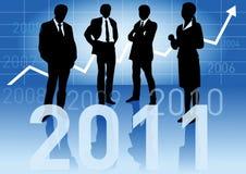 De bedrijfs mensen verwachten een bloeiende 2011 Royalty-vrije Stock Fotografie