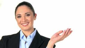 De bedrijfs vrouw adviseert stock videobeelden