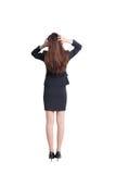 De bedrijfs vrouw denkt Stock Fotografie