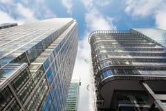 De bedrijfsbouw in Canary Wharf. Royalty-vrije Stock Afbeeldingen