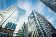 De bedrijfsbouw in Canary Wharf. stock afbeelding