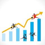 De bedrijfsconcurrentie Stock Afbeeldingen