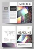 De bedrijfsmalplaatjes voor bi vouwen brochure, tijdschrift, vlieger, boekje, rapport Dekkingsmalplaatje, abstracte vectorlay-out stock illustratie