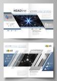 De bedrijfsmalplaatjes voor bi vouwen brochure, tijdschrift, vlieger, boekje, rapport Het malplaatje van het dekkingsontwerp, vec vector illustratie