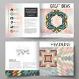 De bedrijfsmalplaatjes voor vierkant ontwerpbi vouwen brochure, tijdschrift, vlieger, boekje Pamfletdekking, abstracte vectorlay- stock illustratie