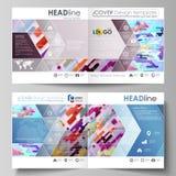 De bedrijfsmalplaatjes voor vierkant ontwerpbi vouwen brochure, tijdschrift, vlieger, boekje, rapport Pamfletdekking, abstracte v royalty-vrije illustratie