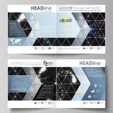 De bedrijfsmalplaatjes voor vierkant ontwerpbi vouwen brochure, tijdschrift, vlieger, boekje of rapport Pamfletdekking, samenvatt stock illustratie