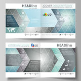 De bedrijfsmalplaatjes voor vierkant ontwerpbi vouwen brochure, vlieger, boekje of jaarverslag stock illustratie