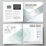 De bedrijfsmalplaatjes voor vierkant ontwerpbi vouwen brochure, vlieger, boekje, rapport Pamfletdekking, abstracte vectorlay-out vector illustratie