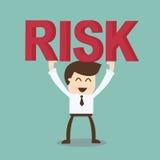 De bedrijfsman en het risico Royalty-vrije Stock Afbeelding