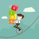 De bedrijfsman en het risico Royalty-vrije Stock Afbeeldingen