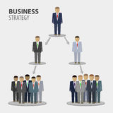 De bedrijfsmensen brengen in kaart vector illustratie