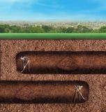 De bedrijfsmensen graven ondergronds tunnels Royalty-vrije Stock Afbeeldingen