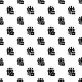 De bedrijfsmensen groeperen patroon naadloze vector royalty-vrije illustratie