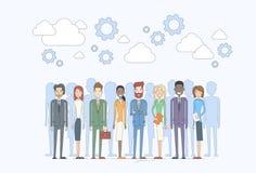 De bedrijfsmensen groeperen Personeel Team Diverse stock illustratie
