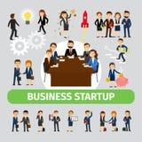 De bedrijfsmensen groeperen pictogrammen Stock Afbeelding