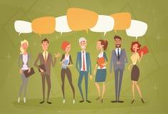 De bedrijfsmensen groeperen Praatjebel Team Human Resources Colleagues royalty-vrije illustratie