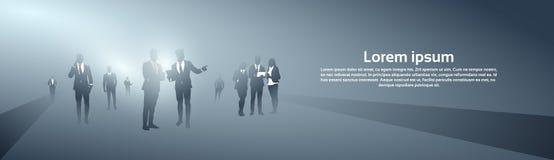 De bedrijfsmensen groeperen Silhouet Team Brainstorming Process royalty-vrije illustratie