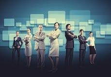 De bedrijfsmensen groeperen zich Stock Foto's