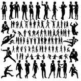 De bedrijfsmensen silhouetteren Grote Reeks stock illustratie