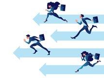 De bedrijfsmensenconcurrentie Van het bedrijfs groepswerk concept Goede bedrijfsvooruitgang en de groei stock illustratie