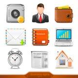 De bedrijfspictogrammen plaatsen 2 stock illustratie