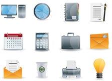 De Bedrijfspictogrammen van het bureau & Stock Afbeeldingen