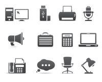 De bedrijfspictogrammen van het bureau en Stock Afbeelding