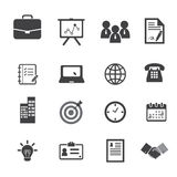 De bedrijfspictogrammen van het bureau en Royalty-vrije Stock Fotografie
