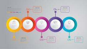 De bedrijfspictogrammen van het Infographicontwerp en Stock Afbeeldingen